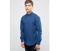 Enges Hemd aus Denim Blau
