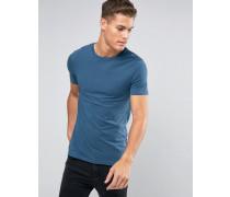 Blaues Muskelshirt mit Rundhalsausschnitt Blau