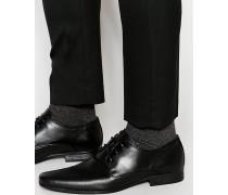 Schwarze Derby-Schuhe mit Perforierung Schwarz
