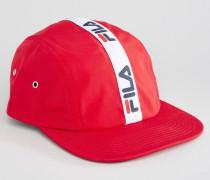 Runner Kappe mit Streifen und verstellbarem Knebelverschluss Rot