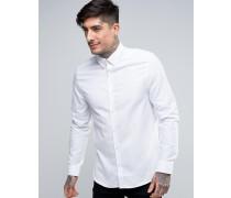 Shirt in schmaler Passform Weiß
