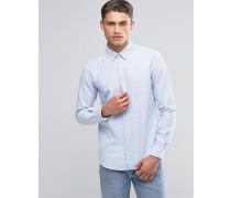 Oxford-Hemd mit Button-Down-Kragen in schmaler Passform Blau