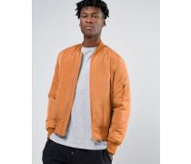 MA1 Bomberjacke in Orange mit Tasche und Kontrastfutter Orange