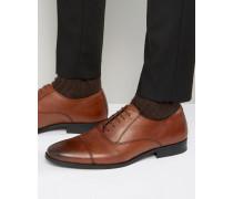 Braune Oxford-Schuhe aus Leder Bronze