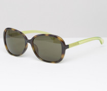CK Jeans Übergroße Sonnenbrille Grün