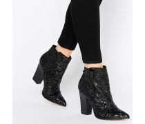 Harlow Glitzernde Ankle Boots Schwarz
