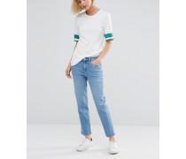 Ami Kurze Jeans mit mittelhoher Taille Blau