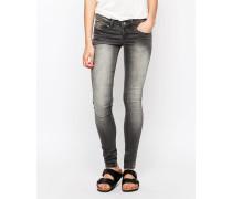 Glow Shady Enge Jeans Grau