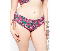 Gwendolen Bikinihose mit tropischem Design Rosa