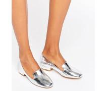 Slipper in Silber-Metallic Silber