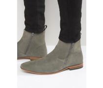 Chelsea-Stiefel aus grauem Wildleder Grau