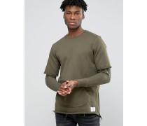 Sweatshirt mit Ärmeln im Lagenlook Grün