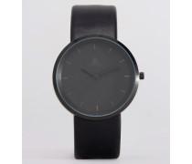 Schmale, schwarze Armbanduhr Schwarz