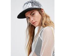 Snapback-Kappe mit Linien-Print Grau