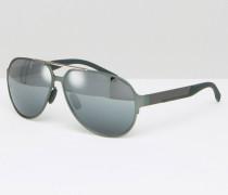 Hugo Pilotensonnenbrille in Graumetall Silber