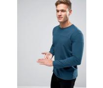 T-Shirt mit tief angesetzten Schultern und abgenähten Bahnen Blau