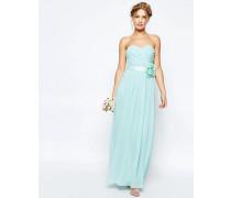 WEDDING Langes Bandeau-Kleid aus Chiffon mit abnehmbarem Blumengürtel Rosa