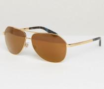 Pilotensonnenbrille Gold