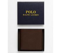 Brieftasche aus Leder mit Münzfach Braun
