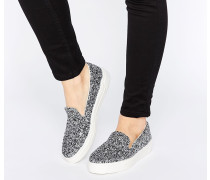 DOODLE Sneaker zum Hineinschlüpfen Silber