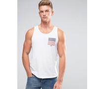USA-Weste mit Tasche Weiß