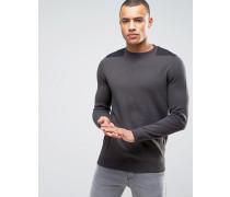 Dunkelgrauer Pullover mit Aufnäherdesign Grau