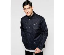 Scramble Jacke aus gewachster Baumwolle Schwarz