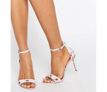 Charv Barely There Sandalen mit hohem Absatz und orientalischem Blütenmuster Mehrfarbig