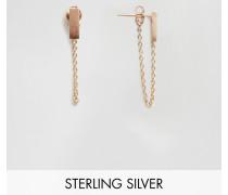 & Julie Sandlau Juna Roségold-beschichtete Ohrringe Gold