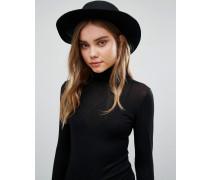 Fedora-Hut aus Wolle Schwarz