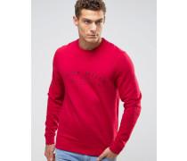 Barmby Rundhalssweatshirt mit Logo auf der Brust Rot