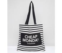Shopper-Tasche mit gestreiftem Logo Mehrfarbig