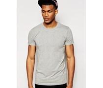 T-Shirt in regulärer Passform Grau
