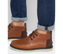 Chukka-Stiefel aus Leder Braun