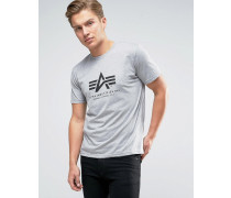 T-Shirt mit Logo in Heidegrau, reguläre Passform Grau
