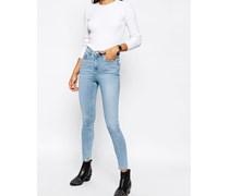 Ridley Skinny-Jeans in Carnation Light Stone-Waschung mit hohem Bund Blau