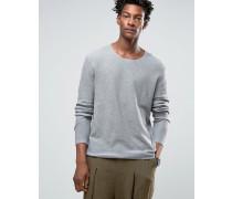 Texturierter Pullover Grau