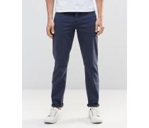 Schmale Stretch-Jeans in Dunkelblau Blau