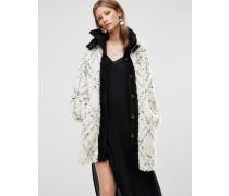 Mantel mit hohem Kragen Weiß