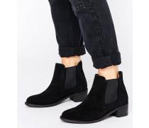 Chelsea-Stiefel mit kleinen Bommeln Schwarz