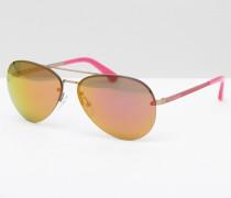 Jeans Pilotensonnenbrille in Rosa Rosa