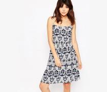 Sommerkleid mit Paisley-Muster Marineblau