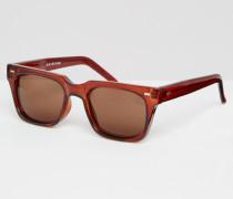 Eckige Sonnenbrille Braun