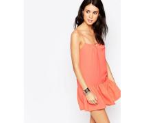 Strandkleid mit tief sitzender Taille Orange