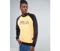 Fila Sweatshirt aus schwarzem Velours Gelb