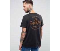 Kennebec T-Shirt mit Berglogo hinten Schwarz