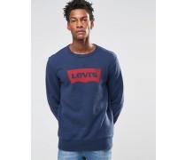 Sweatshirt mit Grafikmuster und Rundhalsausschnitt Blau