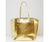Einkaufstasche in Metallic Gold