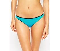 Mix and Match Bikinihose in brasilianischem Stil mit Kontrastdesign Blau