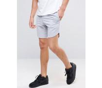 Sweat-Shorts aus unterschiedlichen Materialien Grau